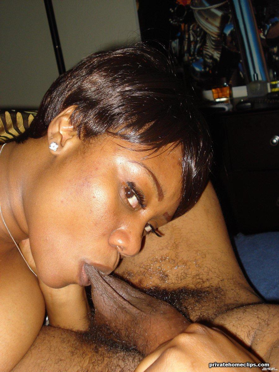 Ebony milf blowjob