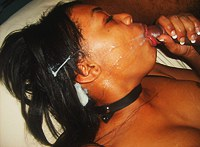 Ebony porn black fem getting mouthful