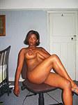 Ebony amateur gets her big tits bounce