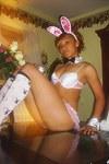 Very seductive Ebony teen bunny girl