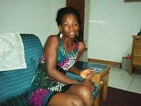 Nubian hottie giving me bj