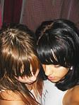Cute latin girlfriends horny kissing
