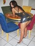Beautiful Latin masturbation in nylons