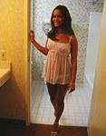 Pretty Latina sucks cock in toilet