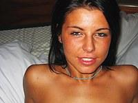 Sexy fun during a Latina photoshoot