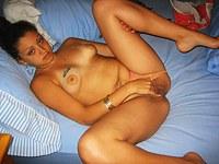 Latina MILF dildo play and facial BJ