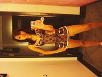 Self shot sexy Latina girl in lingerie