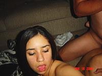 Latina teen sucks and fucks wildly