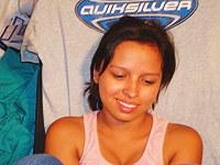 Lustful Latina nude and fucked on webcam