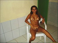 My latina girl nude on the bed
