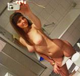Topless teen girlfriend self taping tits