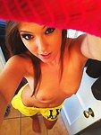 Teen selfshot scenes of hot boobs