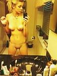 Playful sexy girls selfshot cleavage