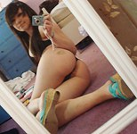Real amateurs nude in selfshot photo