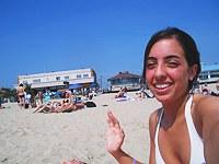 Busty teens voyeured on vacations