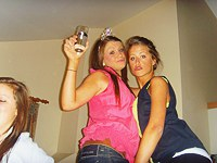 Amateur lesbian teens playing with toys