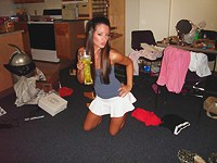 Canned teen party orgy and hard blowjob