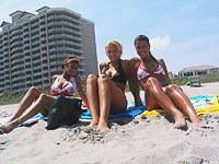 Voyeur webcam shoots teens on the beach