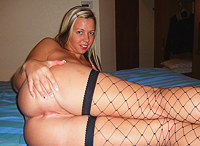 Blonde with rod in mouth is full of lust