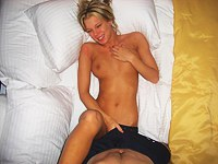 Hot amateur blonde looks like a star