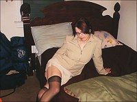 Teen with glasses amateur striptease