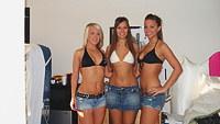 Teen group going strip on webcam
