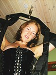 Girl in leather gets lavish facial