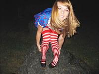 Teen selfshot scenes of gf in costume