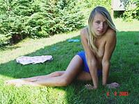 My sexy girlfriend in blue panties