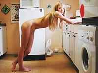 Charming blonde doing her teenie cunt