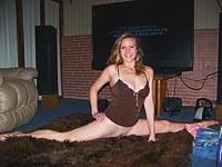 Sassy teen shows her body power