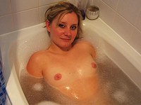 In my bathtub and giving BJ