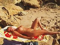 Nude beach voyeur blonde all naked