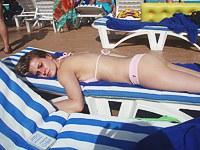 Blazing hot bikini babe