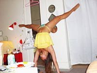 Flexible asian gymnist slut