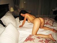 Latina girl masturbating for me on web