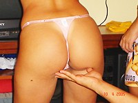 Latina couple in amateur lesbian squirt