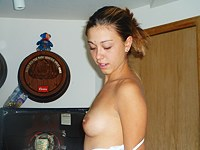 Amature latin girl shows off topless