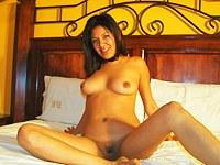 Big tits Latin amateur masturbation fun