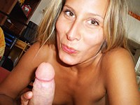 Blondie sits on a horny dick and spins
