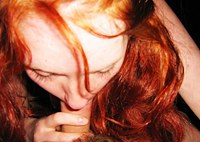 Double dick action for redhead chick