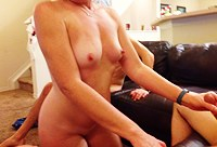 Slutty MILF in threesome on webcam