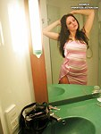 Hot brunette prefers small panties