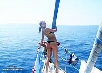 Picnic on a boat