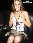 Upskirt babes get frisky at the club
