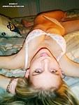 Amateur blonde poses sucks and fucks