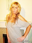 Busty blonde hottie in naughty panties