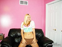 Hot blonde in pink knickers and bikini