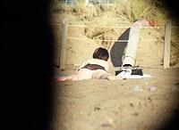 Hidden camera upskirts. Hot pics from beach