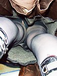Cool panty with hose up skirts